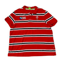 Rugby World Cup 2015 Men's Red Stripe Polo Size 3XL Union