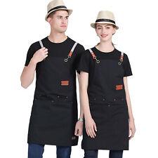 Шеф-повар приготовления фартук приготовления пищи кухня ресторан нагрудник платье с 4 карманами унисекс