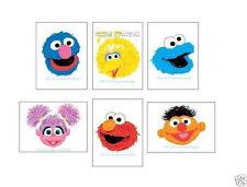 12 Sesame Street Temporary Tattoos Elmo Party Goody Loot Bag Filler Favor Supply