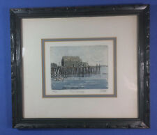 "The Wharf -     5.5"" x 7"" etching     #17/100  -    John Collette - (1941-1997)"