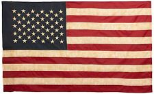 The Usa Flag Vintage 3 x 5 Foot Antique American Embroidered Stars Made in Usa