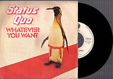 "STATUS QUO WHATEVER YOU WANT + HARD RIDE 1979 ITALY VERTIGO 7"" 45 GIRI"