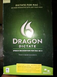 Dragon Dictate 2.0 For Mac OS X, Full Version With Training DVD
