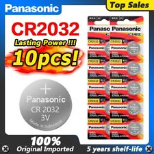 10pcs/lot Coin/Cell Panasonic Cr2032 3v Battery For Watch Remote Control Toy
