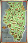 Scenic and Historic Illinois Panorama of History Pictorial Map / 1949