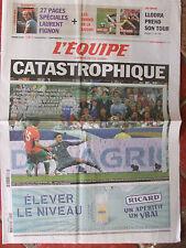 L'Equipe du 4/9/2010 - Foot : France/Bielorussie - Llodra L'adieu à L. Fignon
