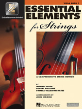 "Essential Elements For Strings ""Viola"" Music Book 1 W/Online Access-New On Sale"
