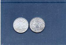 lot de 2 pieces de 50 centimes bazor ,1943,1944c ALUMINIUM