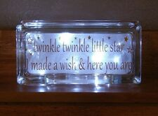 twinkle twinkle little star I made a wish here you glass block light nightlight