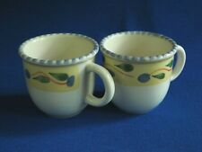 Pier 1 ~  PALERMO ~ 2 Coffee Mugs ~ MADE IN ITALY