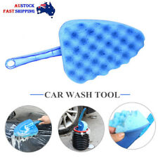 Car Triangle Sponge Brush Blue Wave Car Wash Cleaning Tool Sponge Car Wash Tool