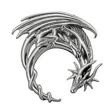 Dragon Moon Crescent Lunar Silver Pendant Sterling 925 Stamped 5.5 g  Beldiamo