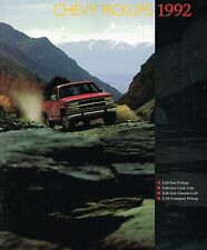 Lrg 1992 Chevy PickUp Truck Brochure:C/K,S-10,SILVERADO,454SS,W/T1500,SCOTTSDALE