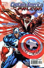 Captain America & The Falcon #2 Signed By Artist Bart Sears