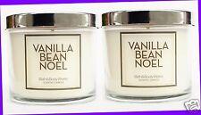 2 Bath & Body Works VANILLA BEAN NOEL Medium Jar Candle Single-Wick 4 oz ea