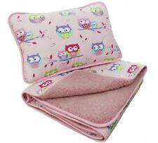 Ausverkauf! Hellrosa Merino Wool & Baumwolle Kinderbett Baby Steppdecke/