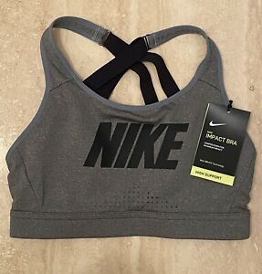 NIKE IMPACT HIGH SUPPORT STRAPPY SPORTS BRA SIZE SMALL NEW WITH TAGS