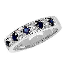 Unbranded Diamond White Gold Sapphire Fine Rings