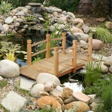 5' Wooden Garden Bridge Arch Footbridge Decor Pond Ornament Japanese Outdoor