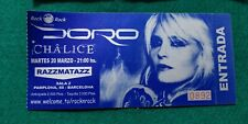 DORO CHALICE  UNUSED TICKET Spain FREE SHIPPING WORLDWIDE WITH TRACKING