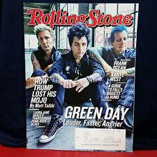 GREEN DAY ROLLING STONE MAGAZINE Issue 1270 September 22 2016 Beck Frank Ocean