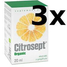 3x CITROSEPT Cintamani Organic Grapefruit Extract 20ml Grapefruitkernextrakt TOP