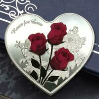 Shape Coin Gifts rose Valentine Souvenir Collection Love Heart Commemorative