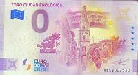 BILLET 0  EURO TORO CIUDAD ENOLOGICA ANNIVERSARY  2021 NUMERO DIVERS