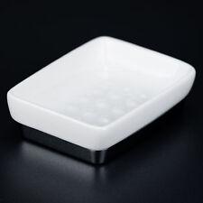 Seifenschale Seifenablage Weiß Eckig Keramik Chrom Sompex 12080