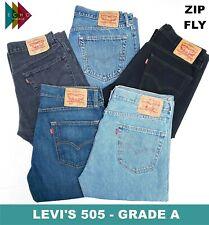 VINTAGE LEVIS LEVI 505 GRADE A MENS JEANS ZIP FLY DENIM W30 W32 W34 W36 W38 501