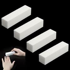 4Pcs Nail Art Buffer File Block Pedicure Manicure Buffing Sanding Polish White