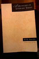 A Glossary of Literary Terms - Sixth Edition - M H Abrams International Edition
