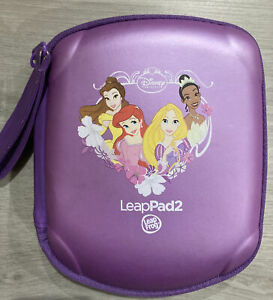 LeapFrog Disney Princess Leappad 2 Purple Carrying Storage Case ARIEL TIANA BELL