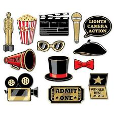AWARDS NIGHT GLITTERED PHOTO SIGNS 13 PIECES HOLLYWOOD AWARDS MOVIE OSCAR PROPS