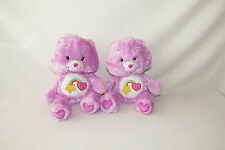 "Care Bear Best Friend Purple Star Heart Lavender 2006 Stuffed Plush Doll 12"" LOT"