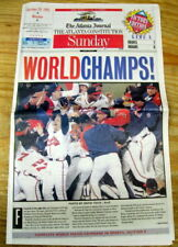 Best 1995 headline display newspaper ATLANTA BRAVES WIN baseball WORLD SERIES