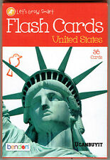 36pk United States Round Corner State Flash Cards Grades K+ Ages 5+ NEW!