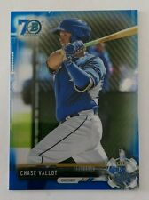 2017 BOWMAN CHROME 70 ANNIVERSARY BLUE REFRACTOR BCP10 CHASE VALLOT KANSAS CITY