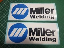 Miller Welder Welding Decals Stickers Graphics 9.75x4 Gloves Helmets Masks Wire