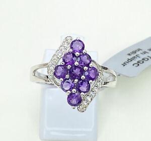 Amethyst & Topaz Gemstone Ring, Size R/S, Gems Tv/ Gemporia, With Cert