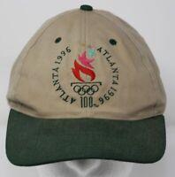 Vintage 1990s 100th Anniversary Olympics USA Atlanta 1996 Snapback Cap Khaki Hat
