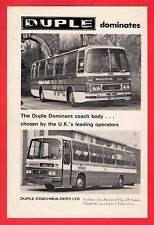 Old Bus Magazine Advert ~ Duple Dominant - Wallace Arnold & Armchair - 1976