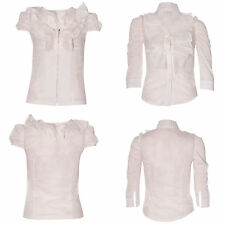Cotton Collared Regular Size Blouses for Women