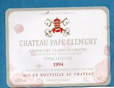 GRAVES GCC VIEILLE ETIQUETTE CHATEAU PAPE CLEMENT 1994 6 L  RARE §12/03/17§