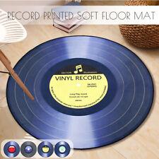 Round Floor Mat Vinyl Record Printed Lving Room Area Soft Carpet Bedroom Ru