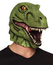T-Rex Dinosaurio Máscara Disfraz Adulto DE LUJO látex en la parte arriba Verde