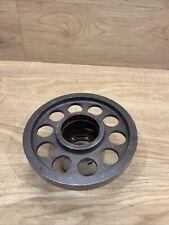 Rare Industrial Machine Age Steel Gears Steampunk Art Parts Lamp Base v