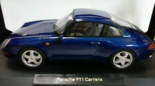 NOREV 1:18 AUTO DIE CAST PORSCHE 911 CARRERA 1993 BLUE METALLIC BLU  ART 187593