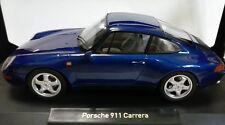 NOREV 1:18 AUTO DIE CAST PORSCHE 911 CARRERA 1993 BLUE METALLIC BLU  ART 187593