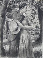 ORIGINAL VINTAGE 1939 PHIL BERRY ILLUSTRATION ROMANCE ART PAINTING LIBERTY MAG.